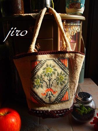 ビーズ編みバッグ-bucket bag.2