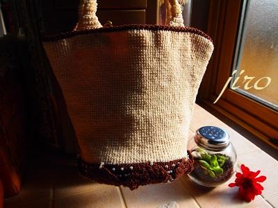 ビーズ編みバッグ-bucket bag.11