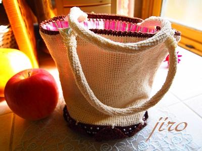 ビーズ編みバッグ-bucket bag.10