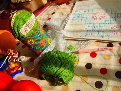 ビーズ編みがま口-京抹茶.3