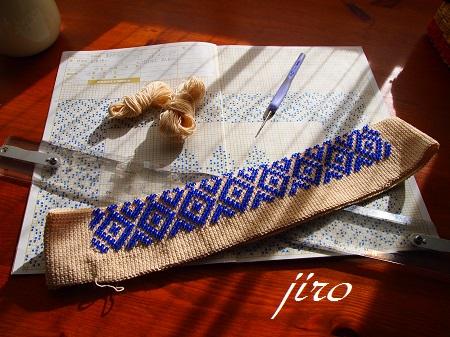 ビーズ編みマット-足ふき37×23.4