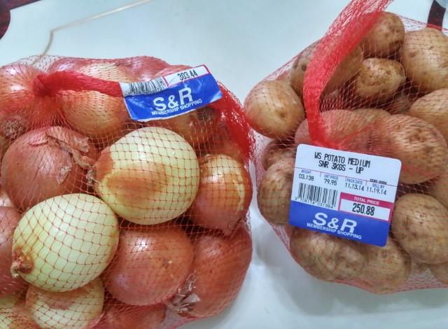 玉ねぎとジャガイモ