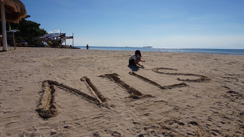 アイランドの砂浜で