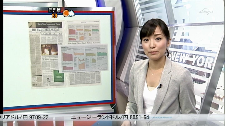 ニュース中の大江麻理子