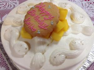 誕生ケーキ-里奈さんの