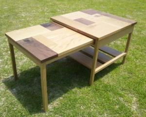 パッチワークのコーヒーテーブル(伸張式)2