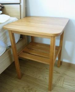 欅のナイトテーブル(納品1)
