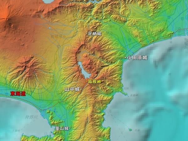 山中城地勢図
