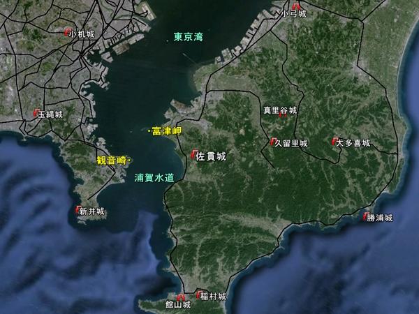 佐貫城地勢図