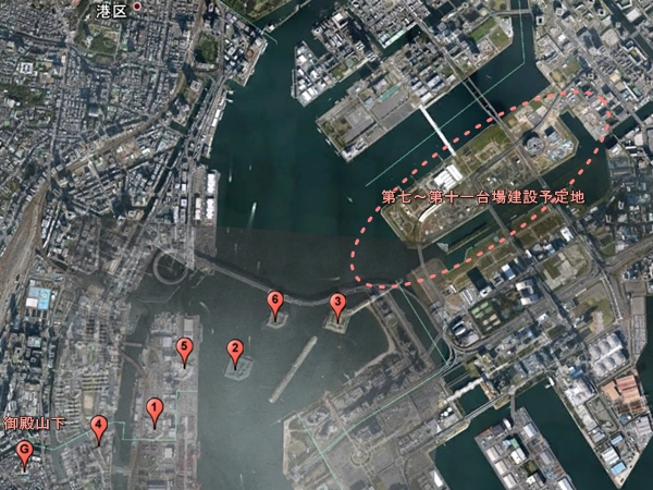 品川台場地形図
