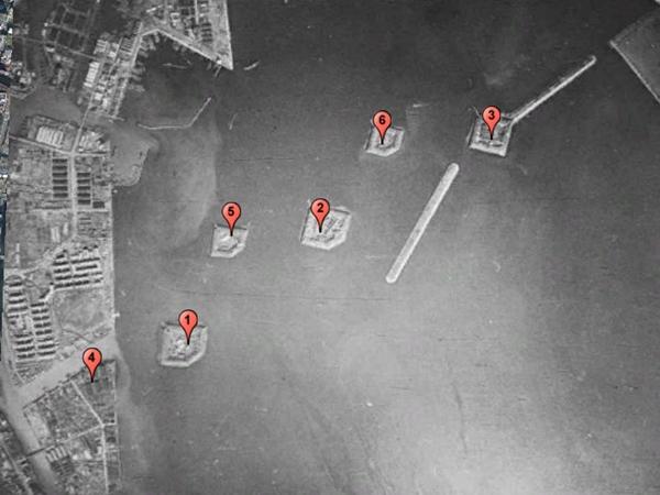 Shinagawa Battery aerial photo