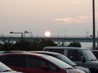 7月21日の離島の夕日