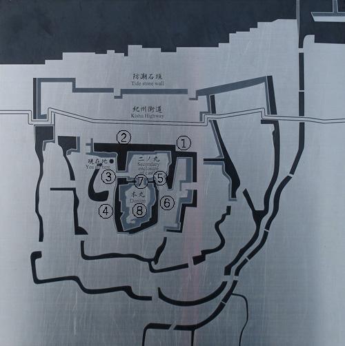 岸和田城地図