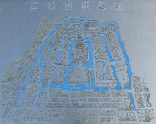 岸和田城復元図