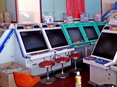 温泉旅館にあるゲームコーナー