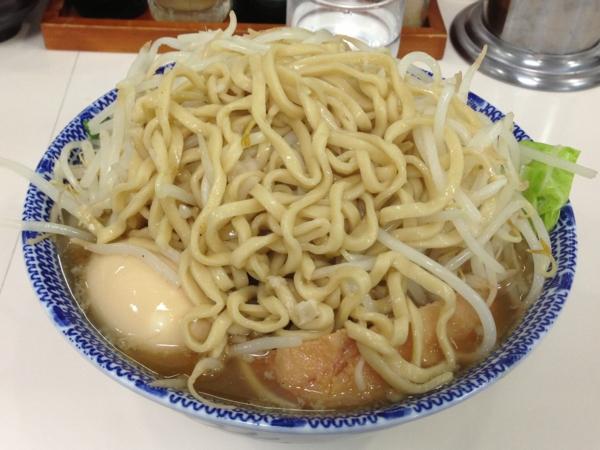 麺屋にぼすけ本舗 にぼじろう大盛り ニンニク背脂(ver2) 麺