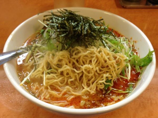 麺や天鳳 白ゴマ担々麺 麺