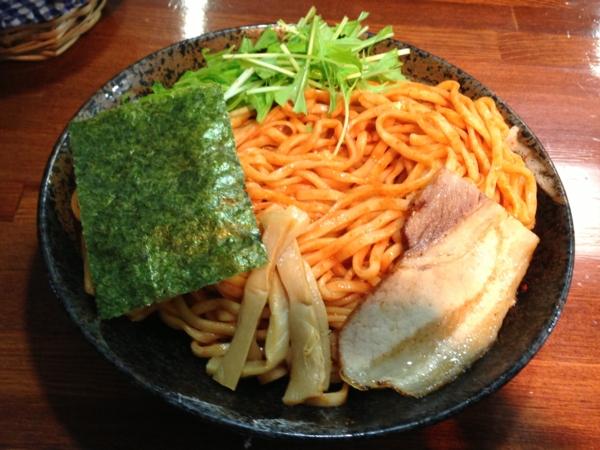 麺屋にぼすけ本舗 濃厚辛味噌つけ麺(大盛り) 8月限定 麺