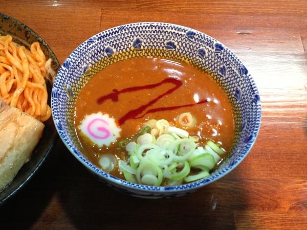 麺屋にぼすけ本舗 濃厚辛味噌つけ麺(大盛り) 8月限定 スープ