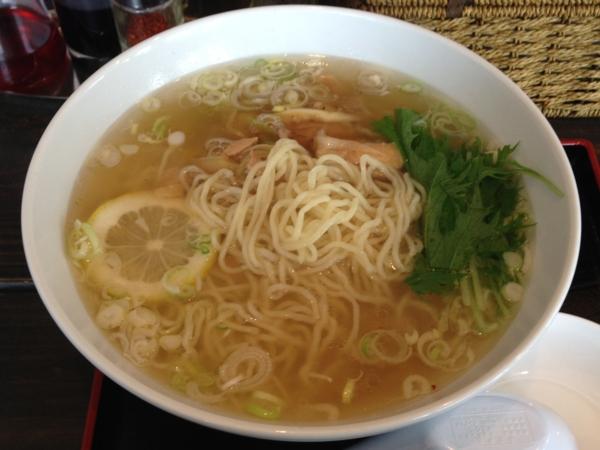 麺屋ふうる(宮城県登米市) 鳥塩ラーメン 麺
