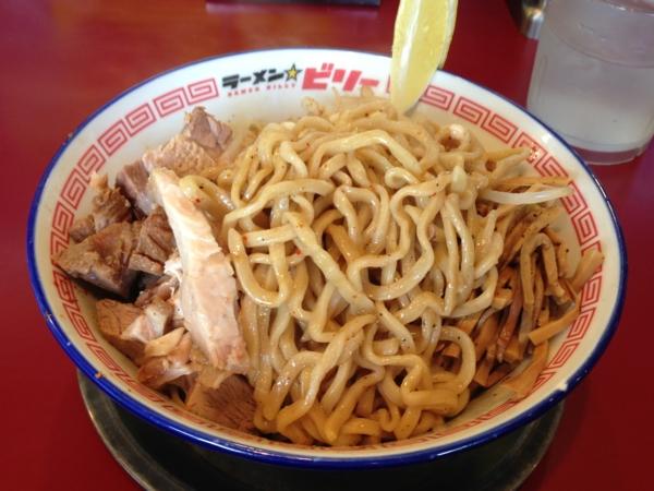 ラーメン☆ビリー 汁なし 麺