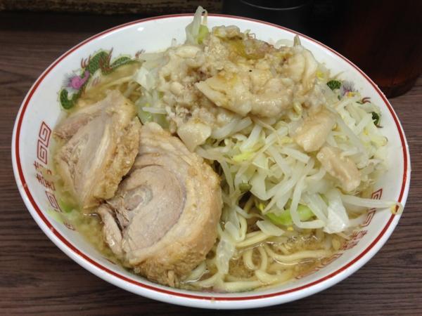ラーメン二郎横浜関内店 小ラーメンニンニクアブラカラメ