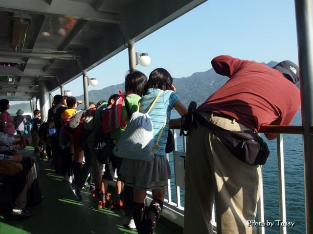 宮島への船中
