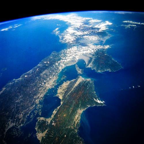 500成層圏からの日本列島