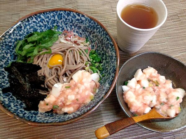 冷やしぶっかけ蕎麦 たたき長芋明太のせ01