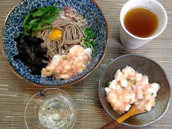 冷やしぶっかけ蕎麦 たたき長芋明太のせ07