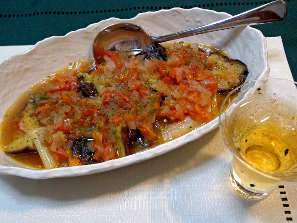 茄子のオリーブオイル蒸し煮08