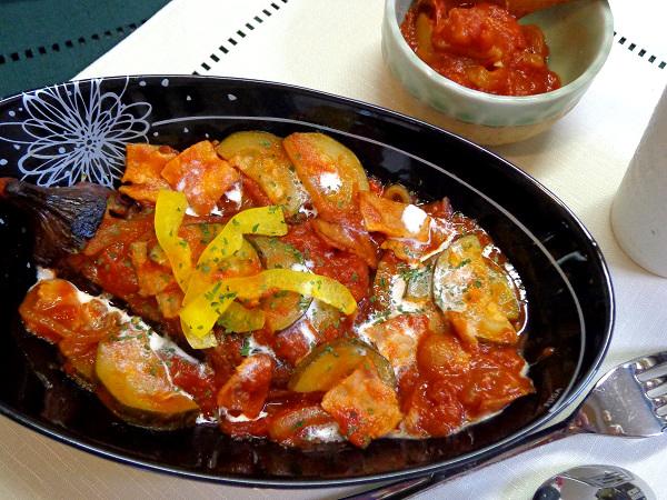 夏野菜 茄子のトマト煮込み01
