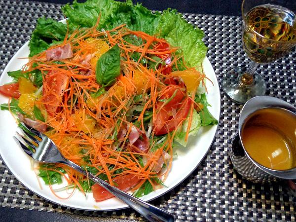 オレンジとトマトの涼感美人サラダ9