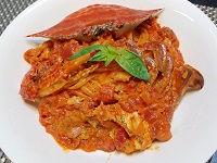 渡り蟹のトマトクリームパスタa