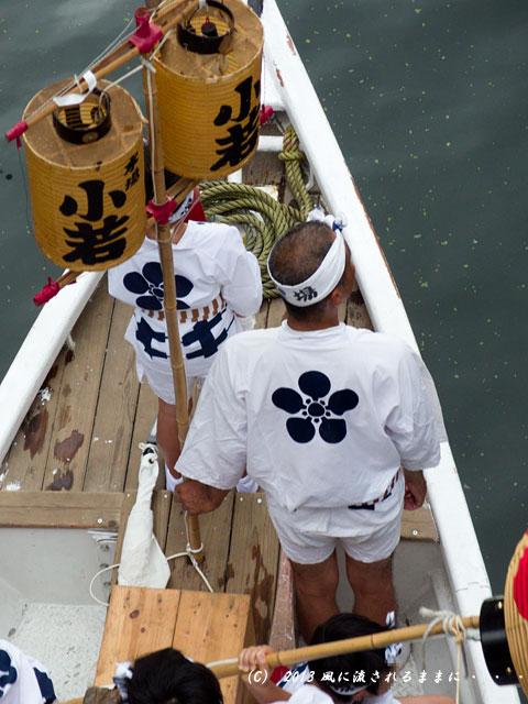 2013年 難波八坂神社夏祭り 道頓堀川船渡御巡幸2