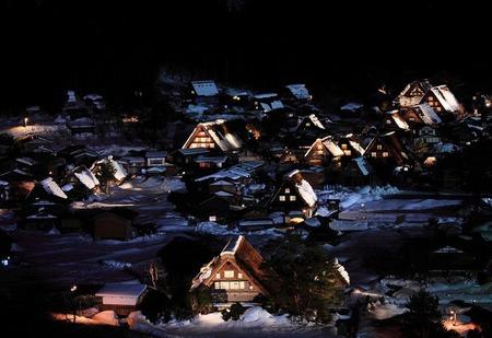 白川郷ライトアップ2014 次回2月1日㈯・2日㈰ 開催