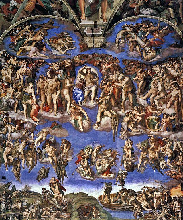 639px-Michelangelo,_Giudizio_Universale_02