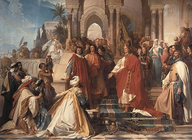 640px-Arthur_Georg_von_Ramberg_-_The_Court_of_Emperor_Frederick_II_in_Palermo_-_WGA18987.jpg
