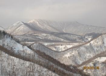 羅臼国後展望塔から見た羅臼岳