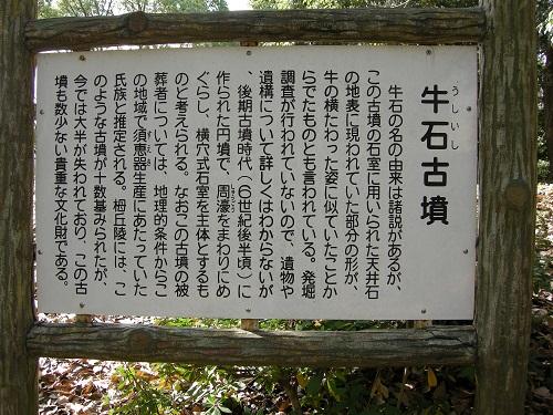 牛石古墳(堺市)説明板
