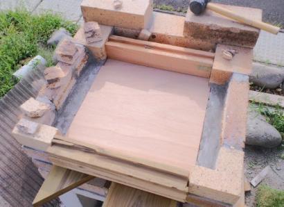 ピザ釜 焼き床 型枠