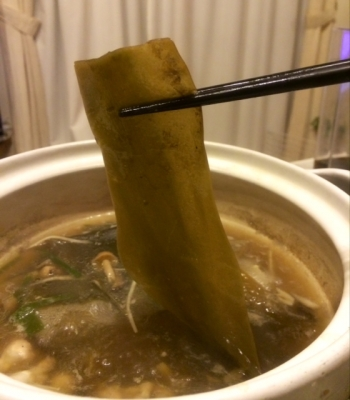常夜鍋 〆の昆布