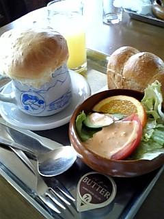 横手山ヒュッテの「スープセット」だよ。すごく美味しかった~。