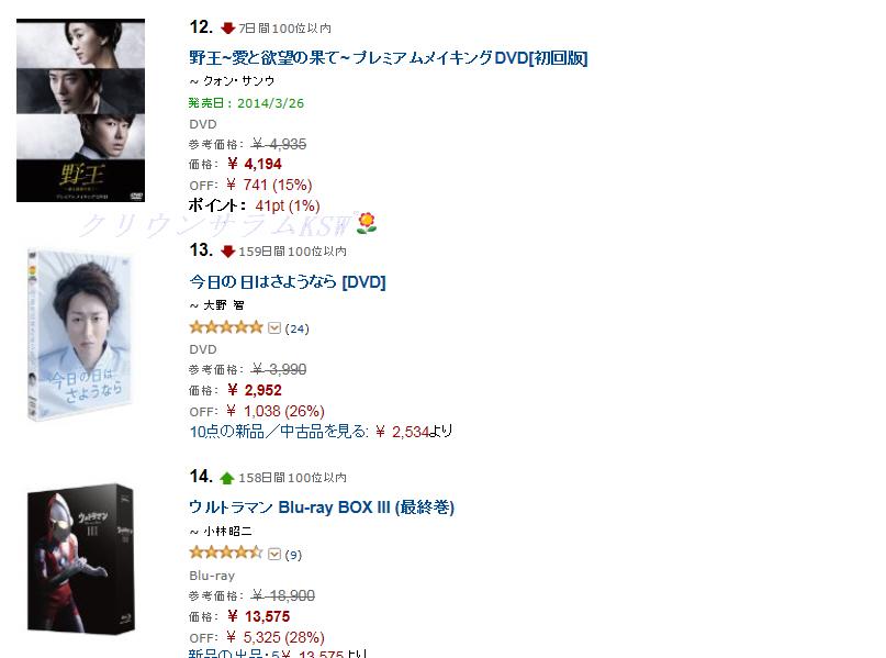 野王DVD12位20140131