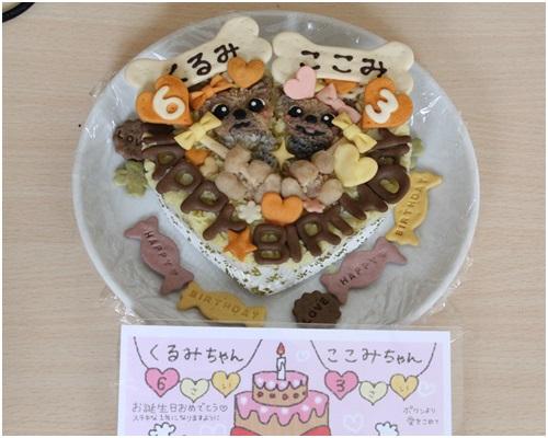 誕生日ケーキを