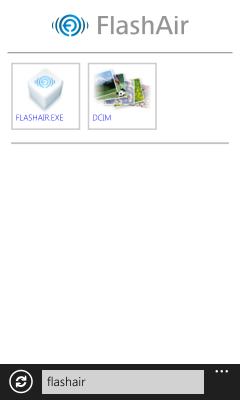 FlashAirトップページ