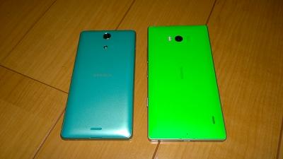 Lumia 930 & SO-04E (裏)