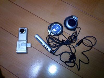 ヘッドフォンとカメラ