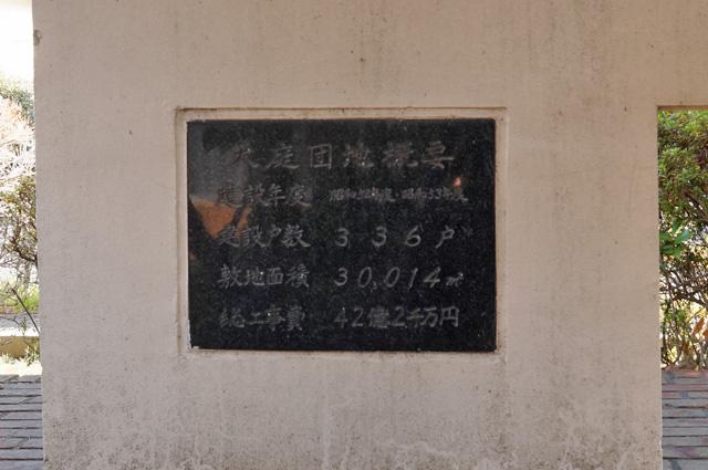 神奈川県営大庭団地の銘板裏側