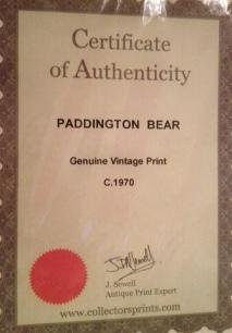 certificate paddington